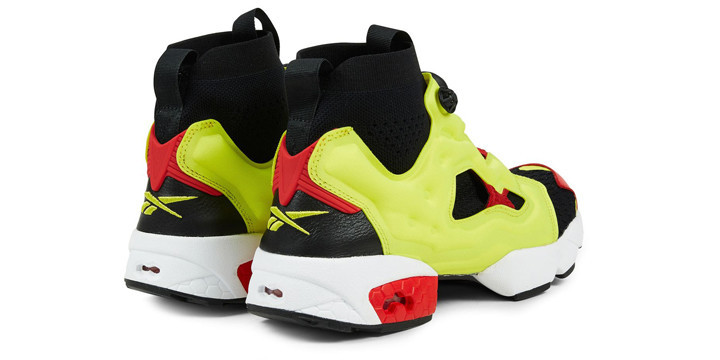 Brand Reebok  Model INSTAPUMP FURY OG ULTRAKNIT MID  Color BLACK HYPER GREEN  RBK RED WHITE ... 1ae4cc7f8