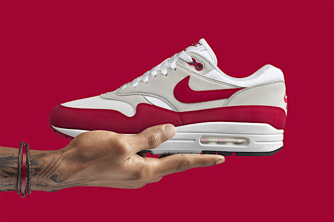 aa847770e64215 Nike Air Max 1 Anniversary OG Red - It s the Air Max that started it all.  Originally released in 1987