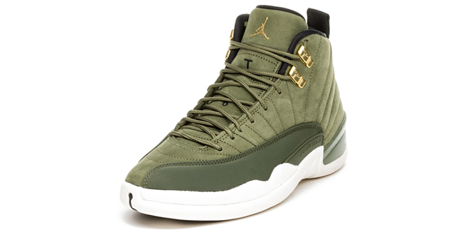 62e9bfebbc8 Brand Nike Jordan; Model AIR JORDAN 12 RETRO - CHRIS PAUL CLASS OF 2003;  Color OLIVE CANVAS/METALLIC GOLD/BLACK/SAIL ...