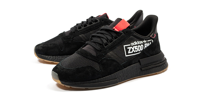 484ede52b Brand Adidas  Model ZX 500 RM - ALPHATYPE  Color CORE BLACK CORE BLACK BLUE  BIRD  Code BB7443